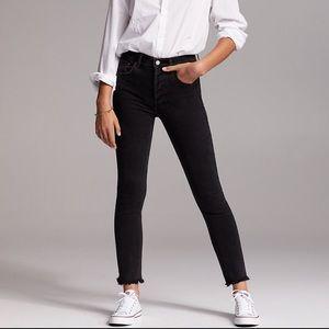 Aritzia Denim Forum Yoko Slim Jeans Black Size 26